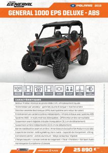 3J Industrie - Quads - Polaris - GENERAL 1000 EPS DELUXE