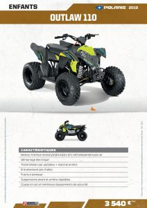 3J Industrie - Quads - Polaris - Outlaw 110